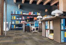 Balsan & Masland / Balsan et le fabricant américain Masland Carpets ont travaillé de concert afin de proposer deux nouvelles qualités destinées aux bureaux : Layered Plaid et Twisted Lines.