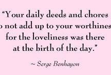 The words of Serge Benhayon