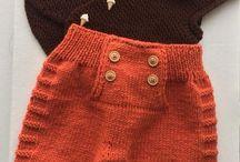 Pantalonas impletit bebe