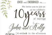 Wedding Anniversary Invitation Inspiration