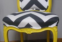 Louis chairs in modern upholstery