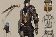 Concept art: armors & clothes