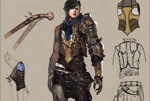 Concept art: armors & clothes