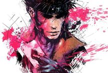 My Hero / Gambit is everything that makes him a badass. He's a rebel but yet sweet inside, his hair, his style, smooth talk, a hustler and a gambler are his main shown assets. SEXY yet BADASS!