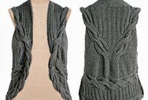 colete ou blusa de trico