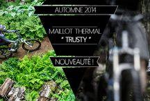 TREES Mountain apparel /Automne 2014 / Maillot Thermal / Brushed fleece  #Trusty TM-015W / #Trusty TM-015M  http://treesmountainapparel.com/vetement-velo-femme/maillot-thermal/  http://treesmountainapparel.com/vetement-velo-homme/maillot-thermal/