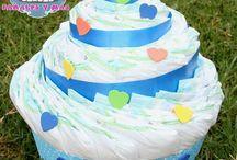 pastel pañale