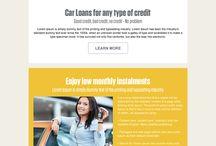 car loan landing page design