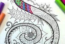 Caligrafie zentangles