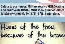 MILITARY APPRECIATION MONTH / We honor all the military who keeps us free and safe everyday! Thank you!
