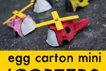 Recycling: Egg Cartoon Crafts