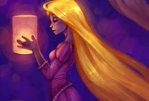 Rapunzel, Elsa, & Anna