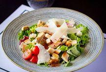 Restaurant Plates / Fantastic food service using Churchill 1795 Studio Stone Grey Coupe Bowl!
