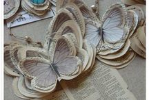 Paper crafts / all good things made of paper, I love recycling and getting inspired to make arty projects from all the old material we all have around the house, like news papers and old paperbacks