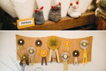 Country fair themed party decor