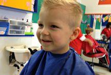My boy's hair