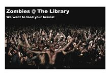 Zombies @ The Library / A display featuring our undead holdings for Halloween brought to you by zombified librarians.