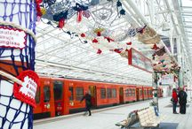 By Concreatives / Textile graffiti installations and yarn bombing by Concreatives collective Finland