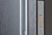 Handles for sliding doors