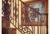 Iron railing and balconies