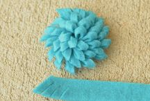Crafts - Flowers and Misc. Shapes / Various types of flowers and other shapes for crafting, mostly no-sew or tutorials that can be converted from sewing to using glue. / by Heather Gallagher