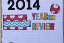 Year in Review Scrapbooking / We have a Year in Review challenge at Chook Scraps and we wanted to share our creations with you in the hope that it inspires you to create a Year in Review album too.