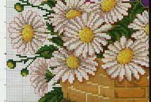 kwiaty haft