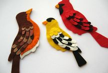 uccelli feltro