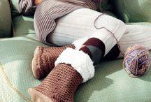 Crochet-Socks, slippers, etc.. / by Laura Cole