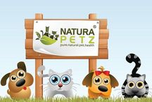 Natura Petz mascots! / At Natura Petz, we LOVE animals. Our mission is to produce products that not only help improve health and wellness for our beloved animals; but we go steps further and formulate products that help eliminate the diseases and conditions that make our pets sick and suffer. We want wagging tails, long, steady purrs and happy face licks!