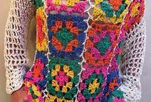 maglia uncinetto a quadretti