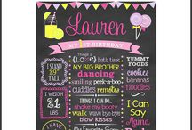 Lollipops and Lemonade Birthday Party / Lollipops and Lemonade Birthday Party Birthday Party Girl Party Ideas Birthday Chalkboard Favorite Things
