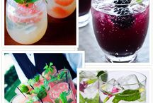 Clever Cocktails / Fun Ways to Dress Up your Drinks
