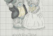 Свадебная вышивка: схемы для вышивки крестиком / Схемы для вышивки крестом на свадьбу