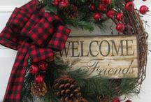 Welcome wreath board