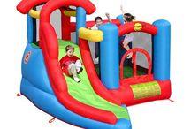 Castillo Hinchable Centro de juegos Happy Hop con tobogán. / zona de juego en la que se puede saltar libremente o transformar en piscina de bolas, pared de escalada, torre vigía y tobogán. Posee un diseño compacto que solo ocupa 8.4 m2, y que permite instalarlo en cualquier lugar.  saltofeliz.com