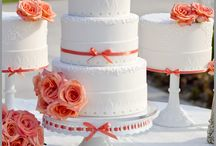 Coral Wedding Theme / all different aspects of the wedding based on a coral theme