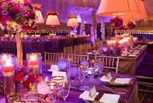 Purple Weddings / Wedding tablecloths and special event linens for a purple party.