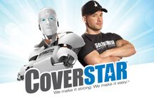 Coverstar / Cameron Solution: Cameron created two iconic characters to represent Coverstar's two product lines: AUTO, a robot, for automatic safety covers; and SAM, a friendly, muscular human, representing Solid And Mesh safety covers. These characters are featured in integrated national trade and consumer marketing programs based on the value proposition: We make it strong. We make it easy. ™