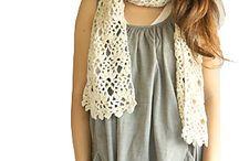 Crochet shawl, scarf