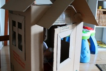 Cubby Houses / Ideas for cardboard cubby houses
