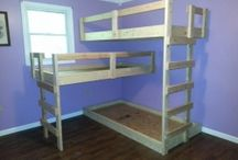 Girl's Room/Bunk Bed Ideas / by Angela Siler