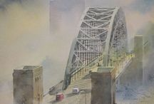Prints of Newcastle / My paintings of Newcastle are the result of thousands of hours spent wandering around the city making studies of it's wonderful architecture, its people and the effects of light at different times of the day.