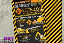 Construction Birthday Party Ideas / Construction Birthday Party