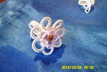 Fehér Szilvia / wire bracelet, necklaces, ring,drótkarkötő nyaklánc, gyűrű