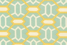 Pattern - Wallpaper, Fabrics, Rugs, Flooring / Wallpapers, fabrics, rugs and flooring. Great color combos for rugs and paint and beautiful rooms filled with all-over pattern.