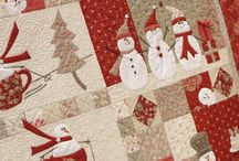 Qiiuilt ideas e.g snowman red and white