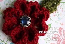 knitted flowers etc