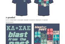 Decades / Greek sorority and fraternity custom shirt designs featuring decade themes. For more information on screen printing or to get a proof for your next shirt order, visit www.jcgapparel.com