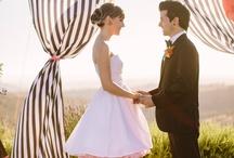 Florals and Stripes Wedding / #stipewedding #floralwedding #stripesandfloral / by Cherry Bomb Events